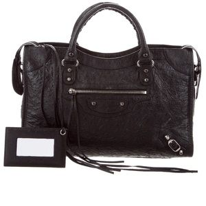 Balenciaga Ostrich Classic City Bag